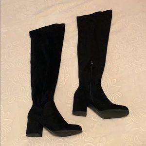 Over the knee chunky boots